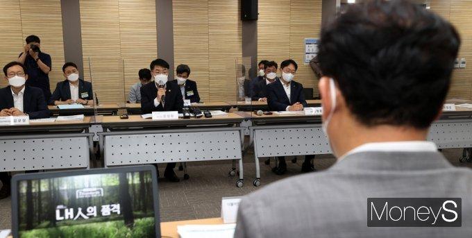 [머니S포토] 與 LH사전청약 점검, 발언하는 윤성원 국토부 1차관