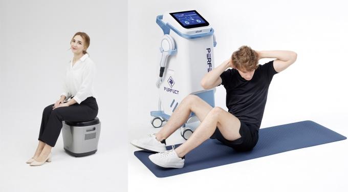 요실금 치료기 'UI큐브'(왼쪽)와 코어 근력 강화기 '퍼펙트'. /사진제공=리메드