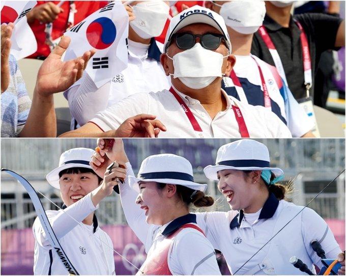 정의선의 전화 한 통, 한국 양궁사 새로 썼다... '페미 논란' 안산 3관왕 올라
