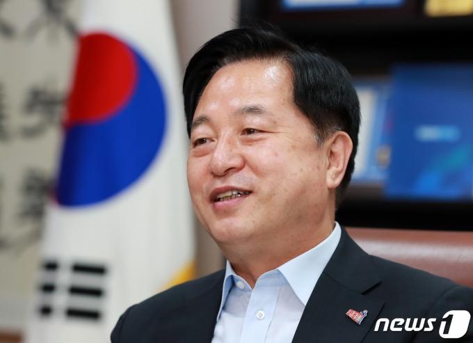 더불어민주당 대권주자인 김두관 의원. 2021.7.22/뉴스1 © News1 구윤성 기자