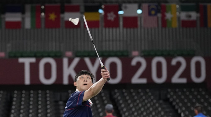2020 도쿄올림픽 배드민턴 남자 단식 경기에 출전한 허광희(26·삼성생명)가 4강 진출에 실패했다./사진=뉴시스