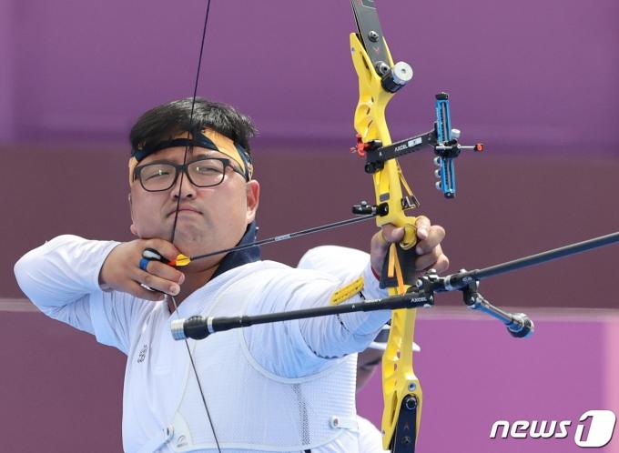 한국 양궁 대표팀 김우진. 2021.7.26/뉴스1 © News1 송원영 기자