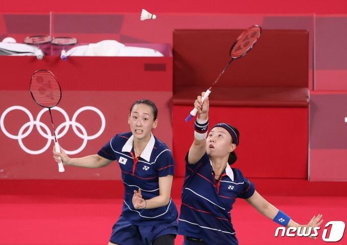 [사진] 배드민턴 이소희-신승찬, 4강 패배…동메달 결정전으로