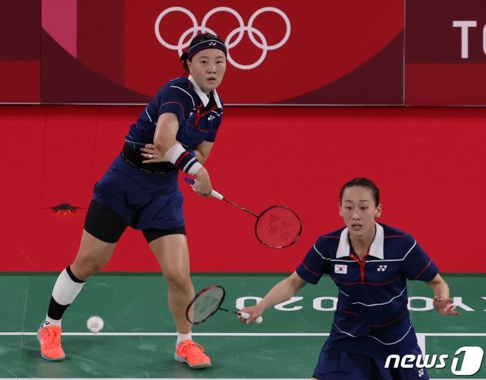 [사진] 이소희-신승진 '최선을 다해'
