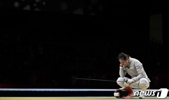 펜싱 여자 사브르대표팀이 러시아에 패해 결승 진출이 좌절됐다.© AFP=뉴스1