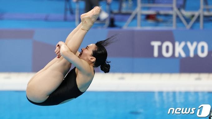 [사진] 다이빙하는 김수지