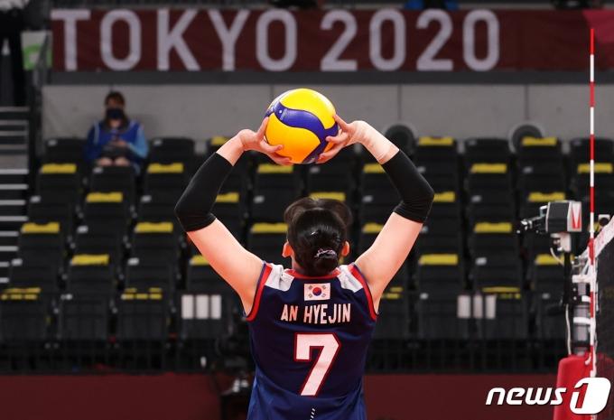 [사진] 도쿄 2020 '여자 배구 한일전 승리'