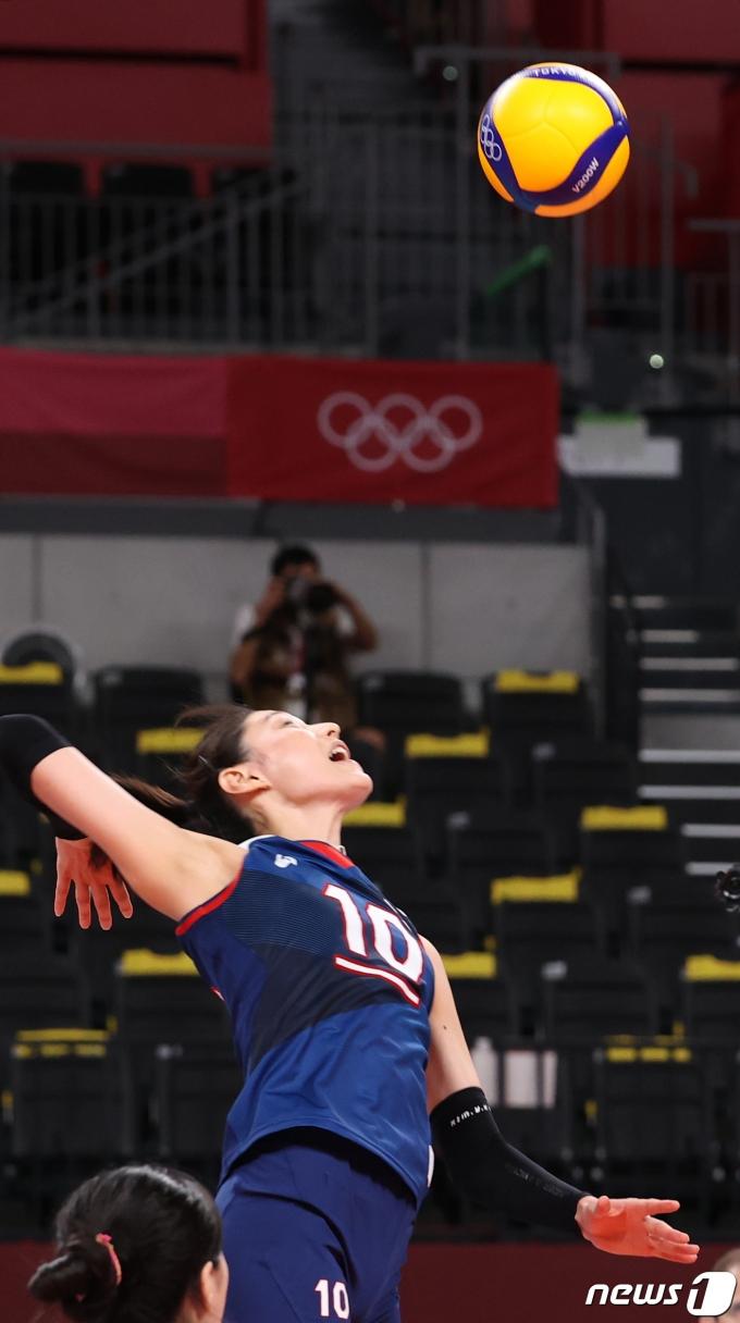 [사진] 김연경 '올림픽 날아오른다'
