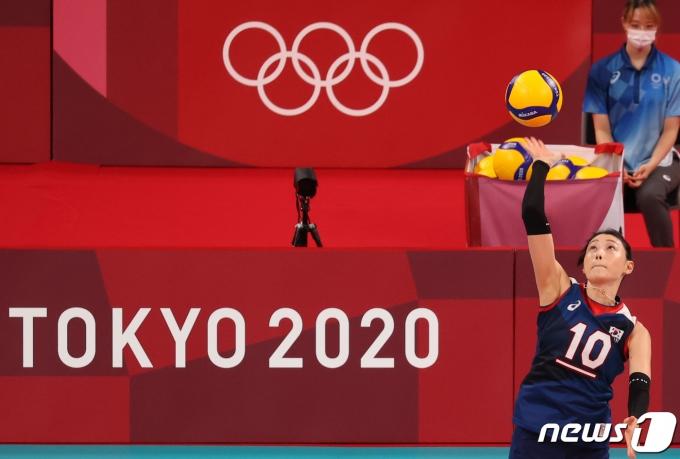 [사진] 김연경 '올림픽 서브'