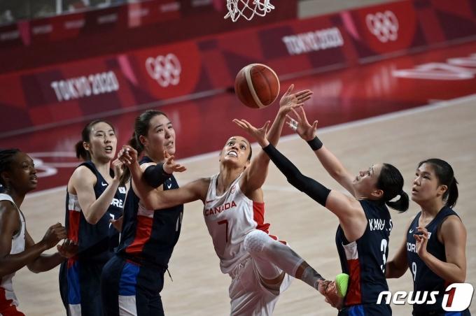 한국 여자농구 대표팀의 경기 모습 © AFP=뉴스1