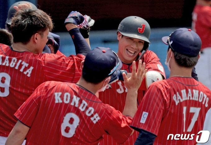 일본은 2020 도쿄 올림픽 야구 2연승을 기록했다. © AFP=뉴스1