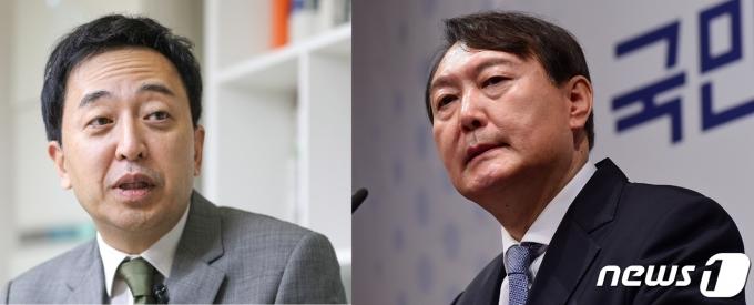 금태섭 전 더불어민주당 의원(왼쪽)과 윤석열 전 검찰총장© 뉴스1