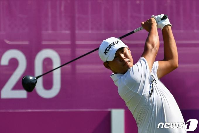 2020 도쿄 올림픽에 출전한 김시우.  © AFP=뉴스1