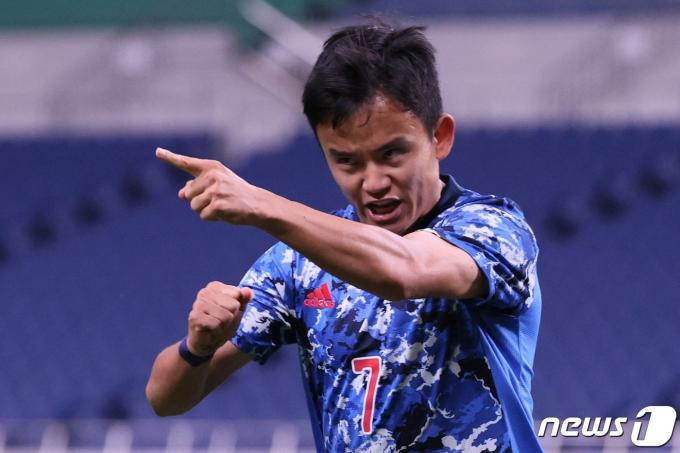 일본 올림픽 축구 대표팀의 구보 다케후사 © AFP=뉴스1