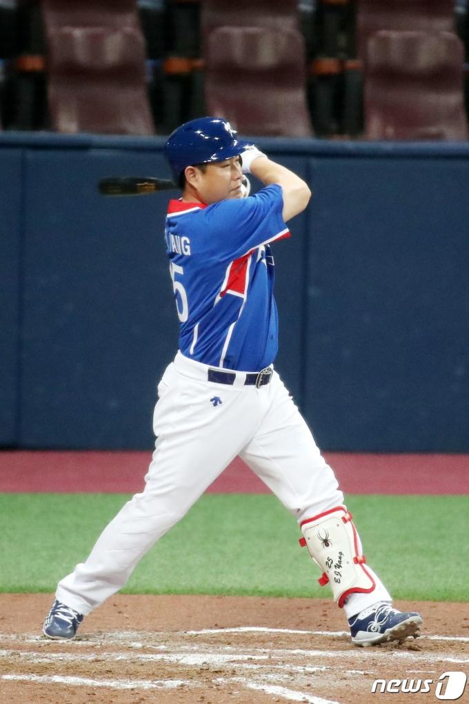 한국 야구 대표팀 양의지. 2021.7.23/뉴스1 © News1 조태형 기자