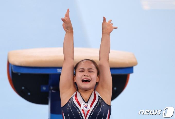 [사진] 여서정 '동메달이다'