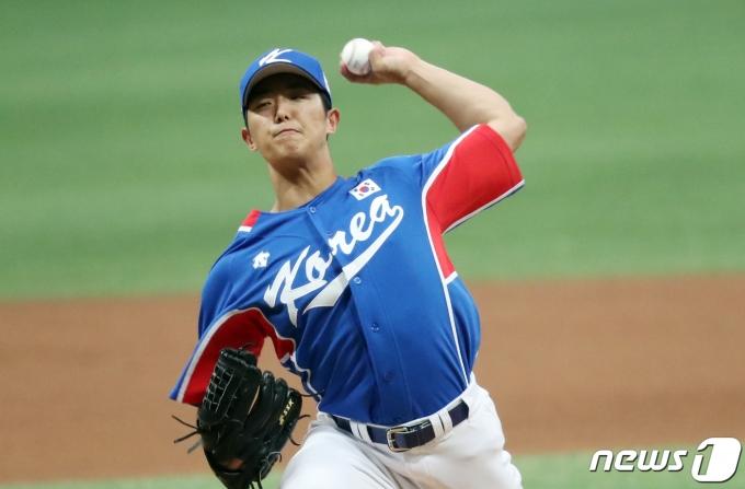 한국 야구 대표팀 이의리. 2021.7.25/뉴스1 © News1 김명섭 기자