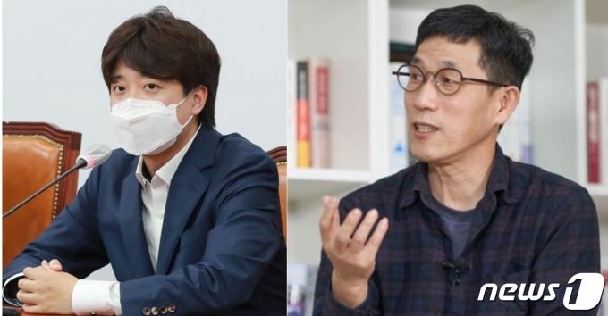 이준석 국민의힘 대표와 진중권 전 동양대 교수. © 뉴스1