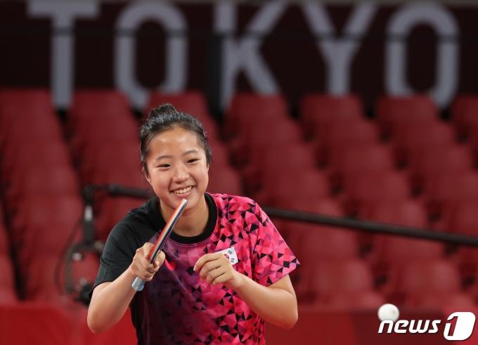 대한민국 탁구 올림픽대표팀 신유빈 2021.7.20/뉴스1 © News1 송원영 기자