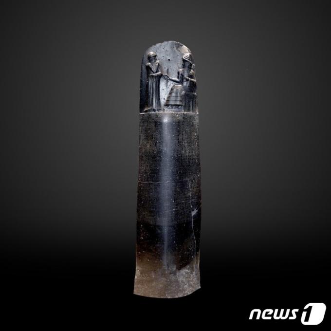 바빌로니아 제국의 왕 함무라비(기원전 1810-1750년)의 '함무라비 석비'© 뉴스1
