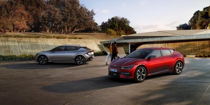 기아는 2일 전용전기차 EV 시리즈의 첫 모델 '더 기아 EV6'를 출시했다. /사진제공=기아