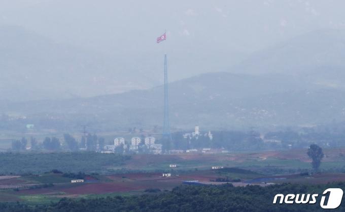경기도 파주시 오두산전망대에서 바라본 북한 황해북도 개풍군. © News1 이성철 기자