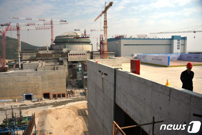 중국 광둥성 타이샨 지역의 원자력 시설 건설 현장. (사진은 기사 내용과 무관함) / 뉴스1 © News1© AFP=뉴스1