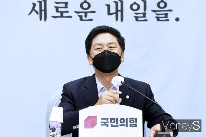 """[머니S포토] 김기현 """"여권에서 김여정 말에 한미연합훈련 중단 주장나와"""""""