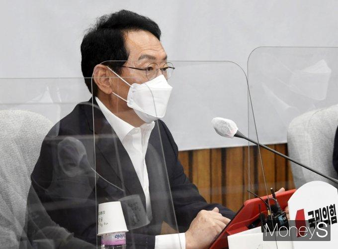 [머니S포토] 국민의힘 원내대책회의, 발언하는 김도읍 정책위의장