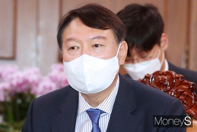[머니S포토] 박병석 국회의장 발언 경청하는 野 잠룡 윤석열