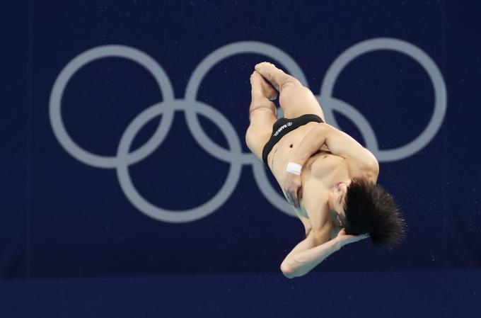 한국 남자 다이빙 대표 우하람이 3일 일본 도쿄 아쿠아틱스 센터에서 열린 2020도쿄올림픽 남자 3m스프링보드 결승전에서 한국 최고성적인 4위를 기록했다. /사진=뉴스1