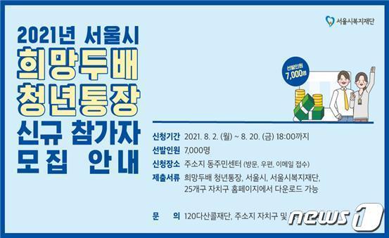 금천구 희망두배 청년통장(금천구 제공).© 뉴스1