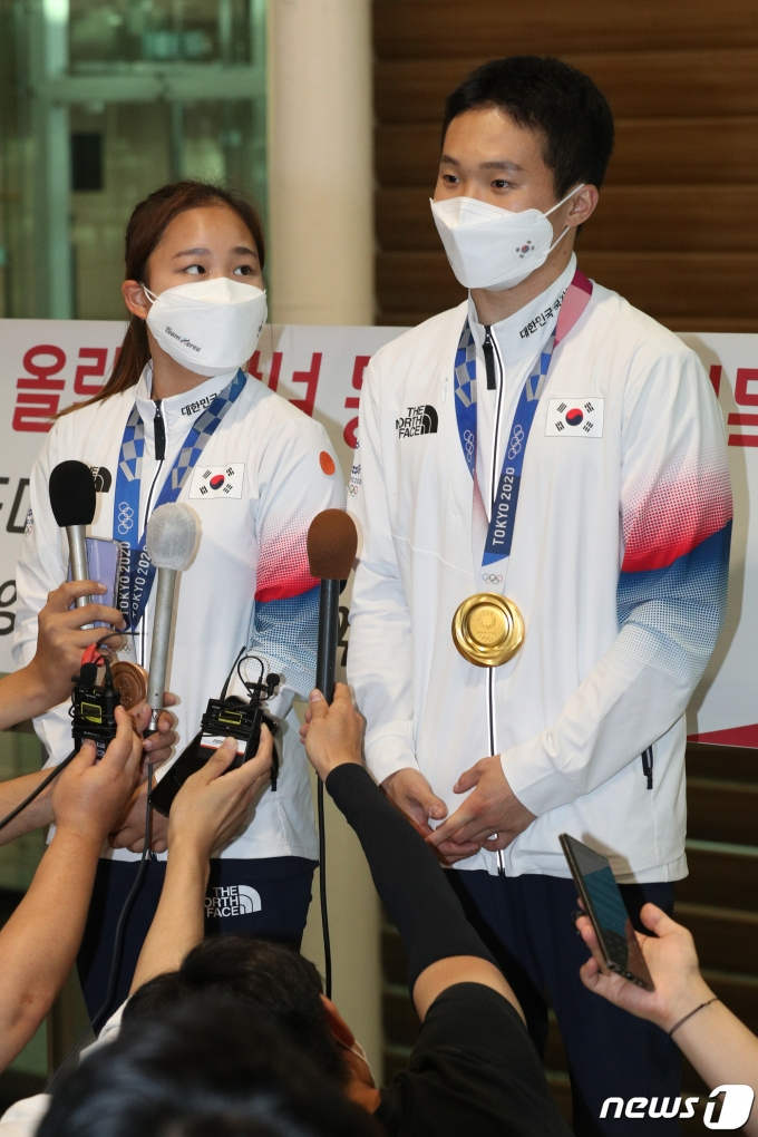 [사진] 신재환 '금메달 소감은?'