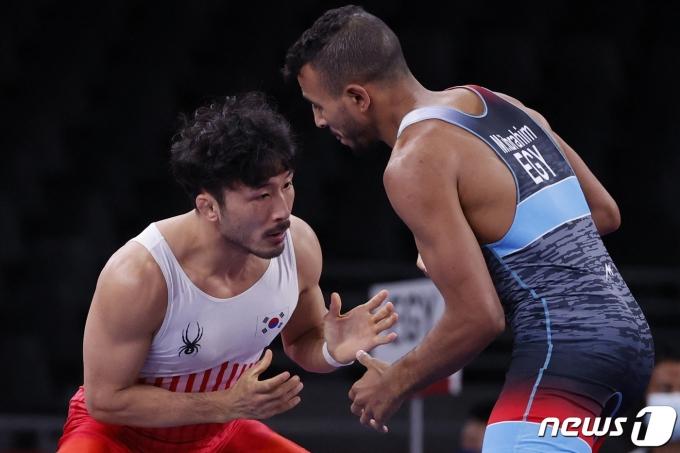 류한수가 2020 도쿄 올림픽 메달 획득의 꿈을 이루지 못했다. © AFP=뉴스1