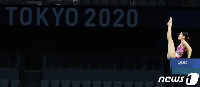대한민국 수영 다이빙 국가대표 권하림이 22일 도쿄 아쿠아틱스센터에서 훈련을 하고 있다. 2021.7.22/뉴스1 © News1 송원영 기자