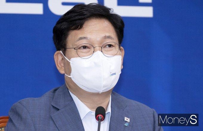 [머니S포토] 민주당 최고위, 발언하는 송영길 대표