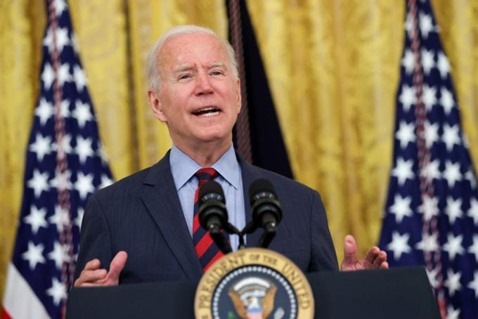 조 바이든 미국 대통령(사진)은 신종 코로나바이러스 감염증(코로나19) 관련 지침을 거부하는 플로리다·텍사스 주지사를 비판했다. /사진=로이터