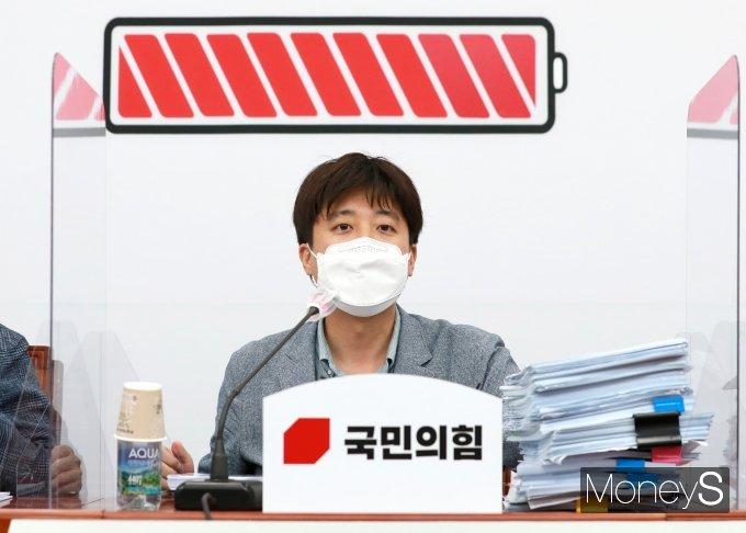 [머니S포토] 당 정책공모전 '나는 국대다 시즌2' 본선 심사 발언하는 이준석