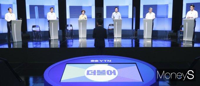 [머니S포토] 與 예비 대권주자, TV토론 2차 격돌
