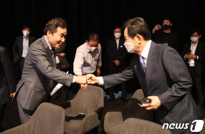 더불어민주당 대선 경선 예비후보 이낙연, 정세균./뉴스1 © News1 국회사진취재단