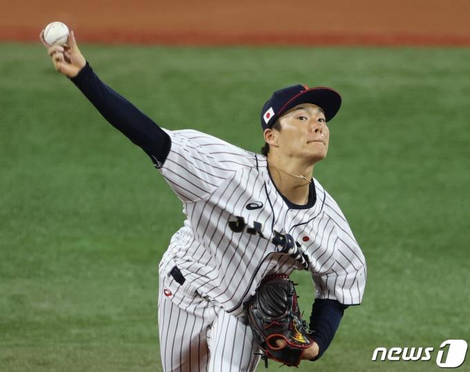 [사진] 야마모토 요시노부 '최선을 다한다'