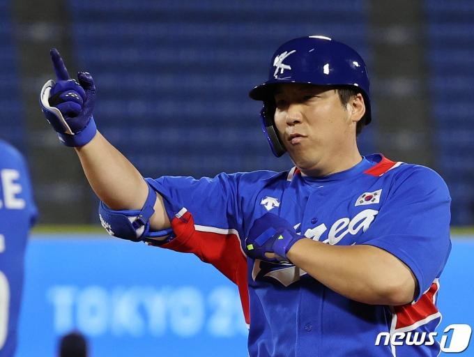 [사진] 김현수 '좋다 좋아'
