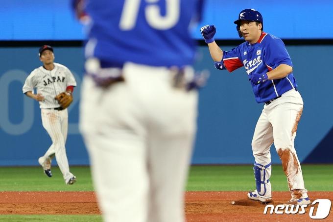 [사진] 김현수 '좋았어'