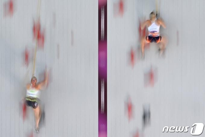 스포츠클라이밍 경기 모습 © AFP=뉴스1