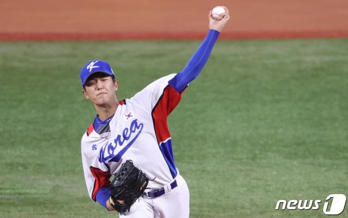 한국 야구 국가대표팀 이의리. 2021.8.1/뉴스1 © News1 송원영 기자