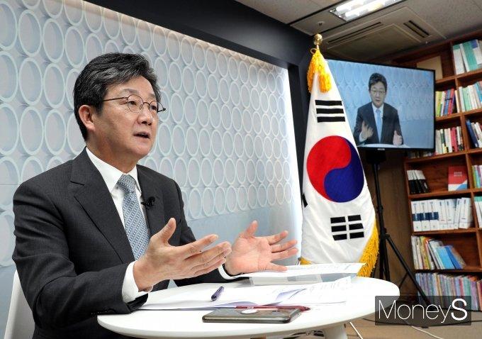 """[머니S포토] 유승민 """"민간 기업도 육아휴직 3년으로 확대"""""""