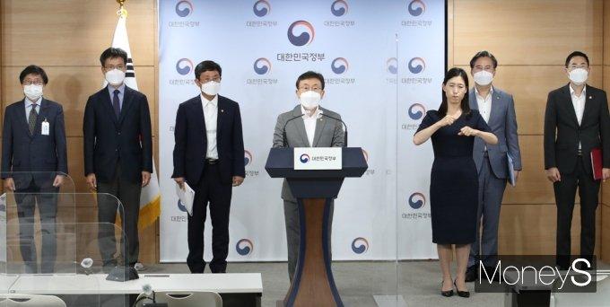 """[머니S포토] 정부 """"삼성바이오, 8월말 모더나 백신 완제품 시범생산 계획"""""""