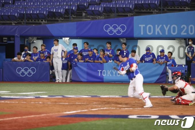 [사진] 아쉬워하는 대한민국 선수들
