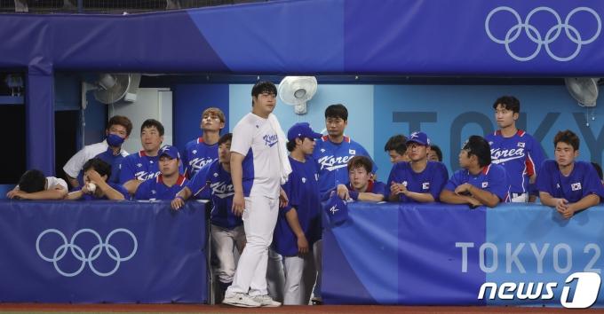 [사진] 아쉬워 하는 대한민국 야구 대표팀