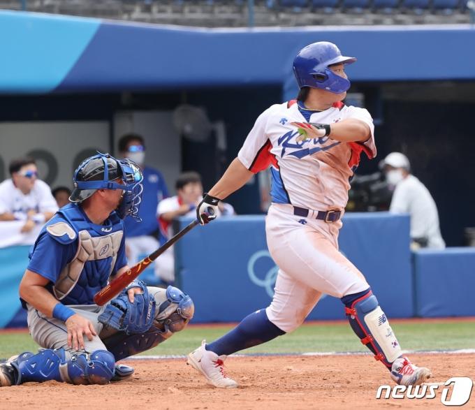 야구 대표팀 강백호. 2021.8.2/뉴스1 © News1 송원영 기자